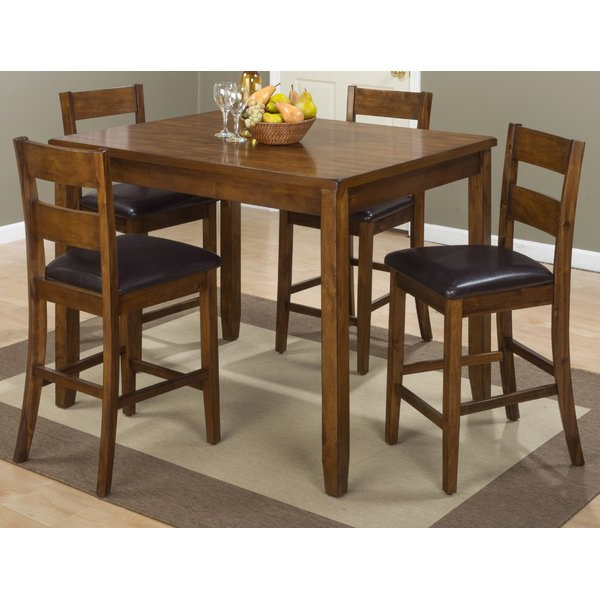 Well Known Fort Morgan 5 Piece Counter Height Pub Table Setloon Peak 2019 Pertaining To Tappahannock 3 Piece Counter Height Dining Sets (View 20 of 20)
