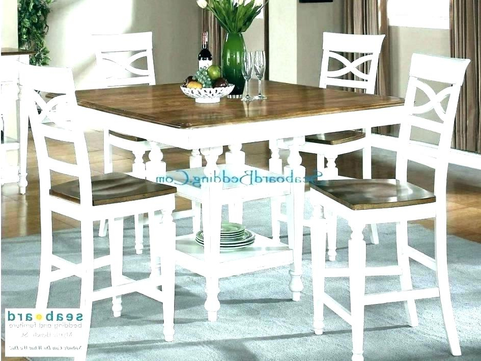 Well Known Furniture : Stunning Square Pub Table 8 Chairs Fascinating Wicker With Cincinnati 3 Piece Dining Sets (View 10 of 20)