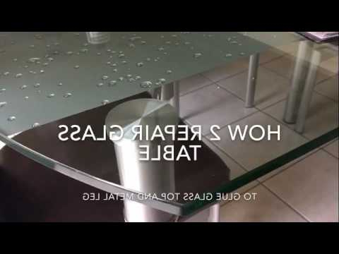 Well Known Glass Dinning Table Repair – Youtube Throughout Presson 3 Piece Counter Height Dining Sets (View 14 of 20)