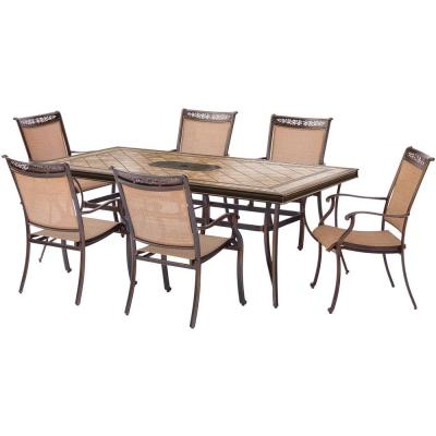 Well Known Hanover Brigantine 7 Piece Patio Outdoor Dining Set Brigantine7pc Intended For Laconia 7 Pieces Solid Wood Dining Sets (set Of 7) (View 16 of 20)