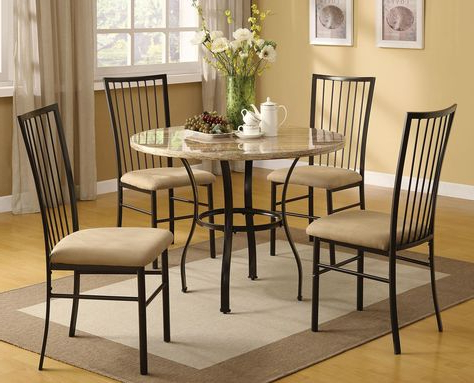 Well Known Hillsdale Lakeview Round Dining Collection With Slate Chair 4264Dtbrdcs Within Lamotte 5 Piece Dining Sets (View 19 of 20)