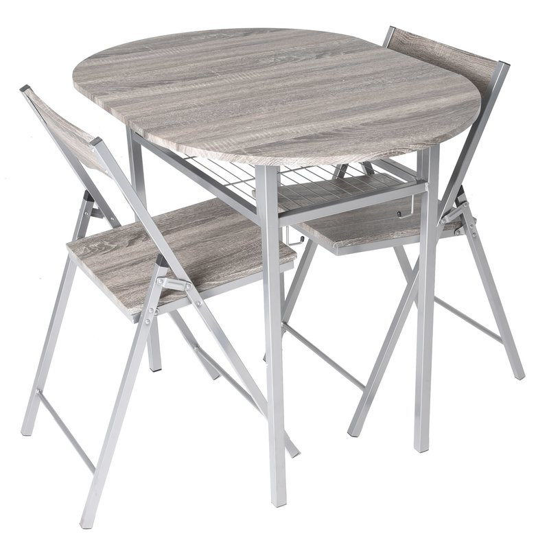 Well Known Honoria 3 Piece Dining Sets Within Ebern Designs Horner Wood 3 Piece Drop Leaf Breakfast Nook Dining (View 4 of 20)