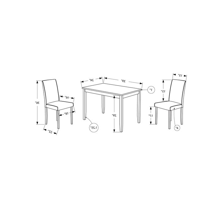 Well Known Latitude Run Baillie 3 Piece Dining Set & Reviews (View 19 of 20)