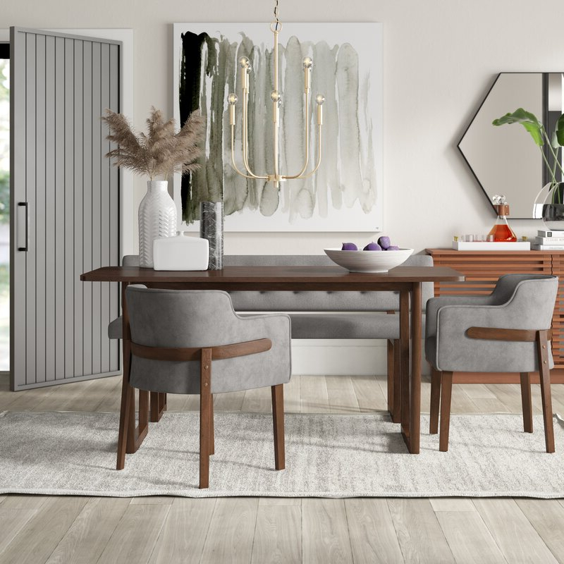 Well Known Mercury Row Mukai 4 Piece Dining Set (View 19 of 20)