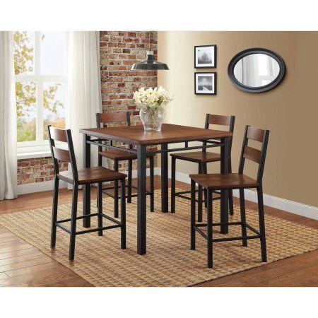 Well Known Mysliwiec 5 Piece Counter Height Breakfast Nook Dining Sets Regarding Better Homes And Gardens Mercer 5 Piece Counter Height Dining Set (View 8 of 20)