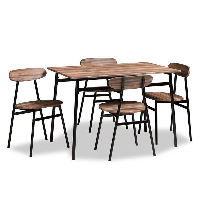 Well Known Telauges 5 Piece Dining Set & Reviews (View 15 of 20)