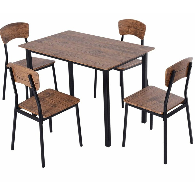 Well Known Union Rustic Castellanos Modern 5 Piece Counter Height Dining Set Intended For Castellanos Modern 5 Piece Counter Height Dining Sets (View 20 of 20)