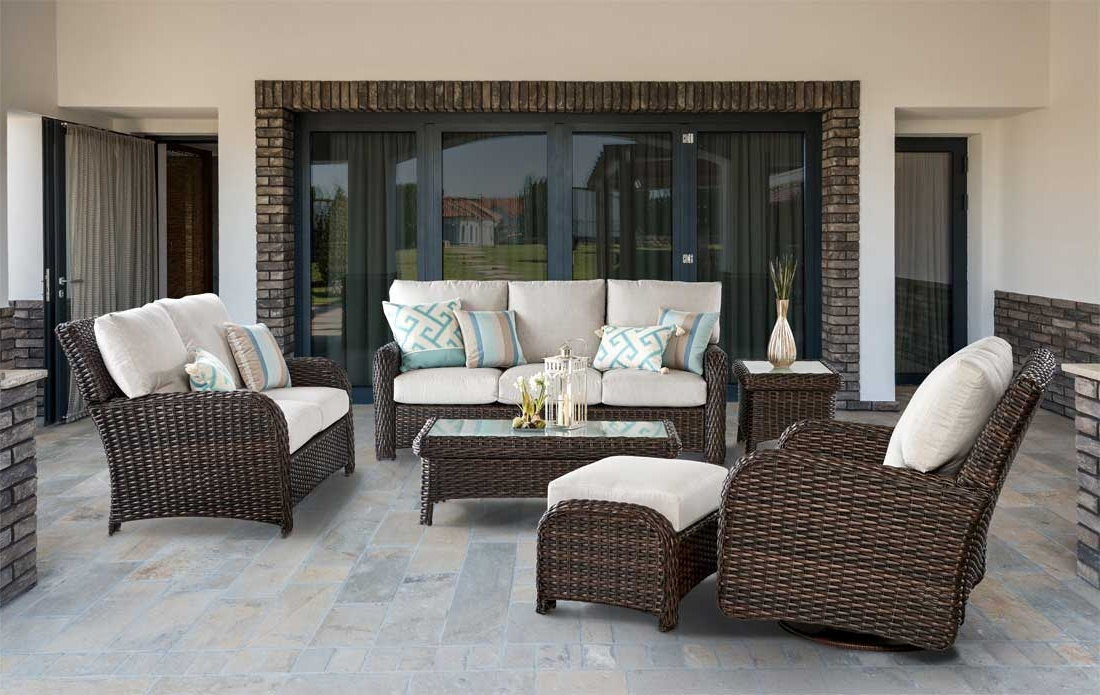 Well Known Wicker St Croix All Weather Resin Wicker Furniture Sets, Tobacco Pertaining To Saintcroix 3 Piece Dining Sets (View 19 of 20)