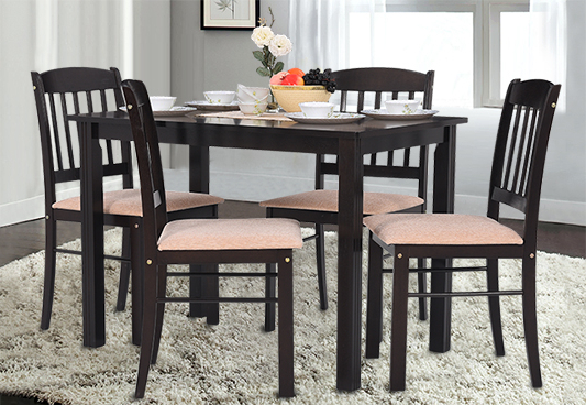 Well Liked Amir 5 Piece Solid Wood Dining Sets (set Of 5) With Buy Furniture Online – Buy Furniture For Home, Office And Outdoor At (View 12 of 20)