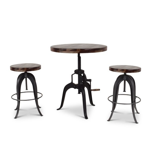 Well Liked Askern 3 Piece Counter Height Dining Sets (set Of 3) Pertaining To Pringle 5 Piece Dining Setbay Isle Home No Copoun On (View 19 of 20)