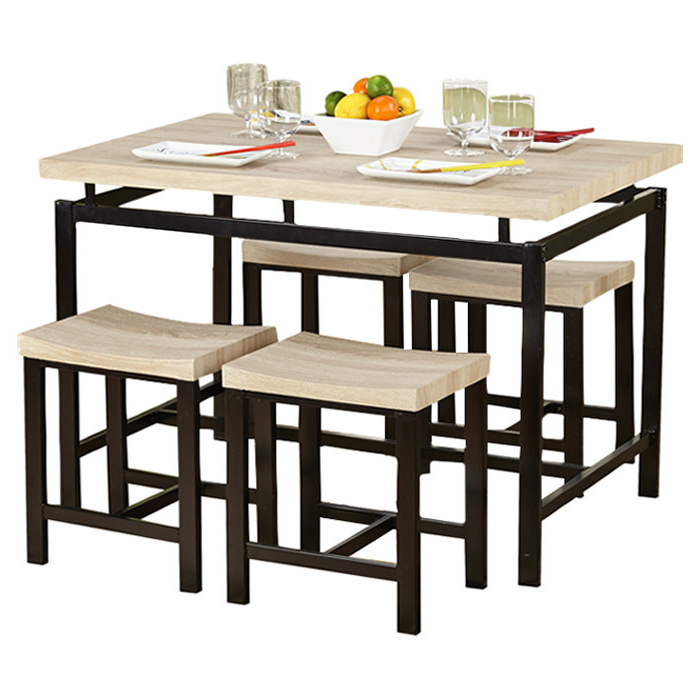 Well Liked Bryson 5 Piece Dining Set & Reviews (Gallery 9 of 20)