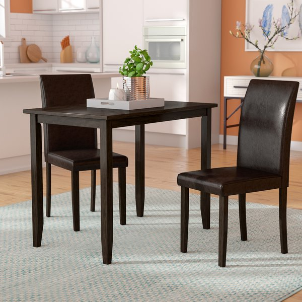 Well Liked Latitude Run Baillie 3 Piece Dining Set & Reviews (Gallery 1 of 20)