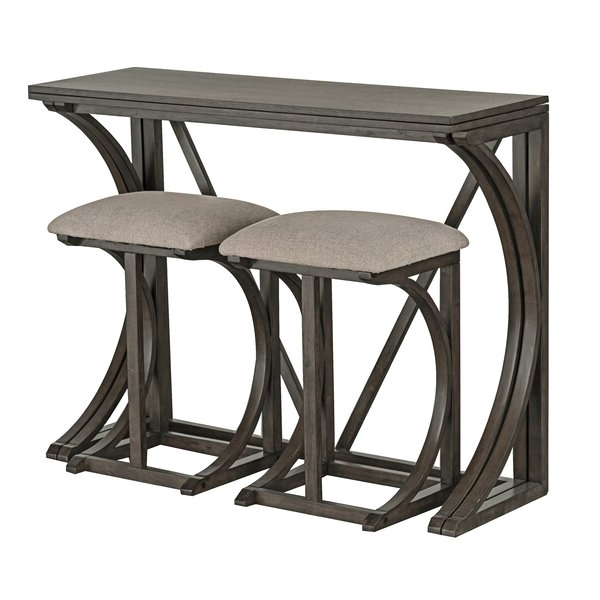Well Liked Leslie 8 Piece Extendable Solid Wood Dining Setophelia & Co With Regard To Valladares 3 Piece Pub Table Sets (View 20 of 20)