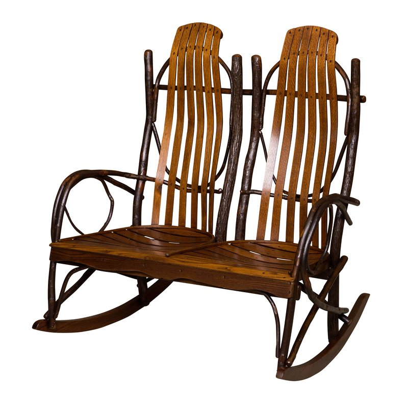 Well Liked Queener 5 Piece Dining Sets Inside Loon Peak Queener Double Rocking Chair (View 18 of 20)