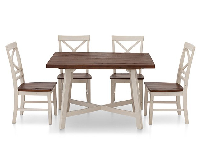 Widely Used 5 Piece Dining Sets Throughout Amelia 5 Pc. Dining Room Set – Furniture Row (Gallery 20 of 20)