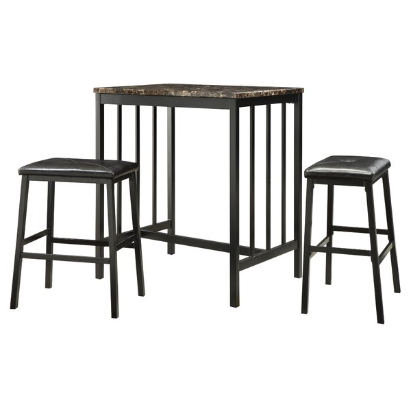 Widely Used Anette 3 Piece Counter Height Dining Setcharlton Home 2019 Sale Within Anette 3 Piece Counter Height Dining Sets (Gallery 1 of 20)