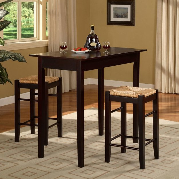 Widely Used August Grove Tenney 3 Piece Counter Height Dining Set & Reviews Inside Poynter 3 Piece Drop Leaf Dining Sets (Gallery 9 of 20)