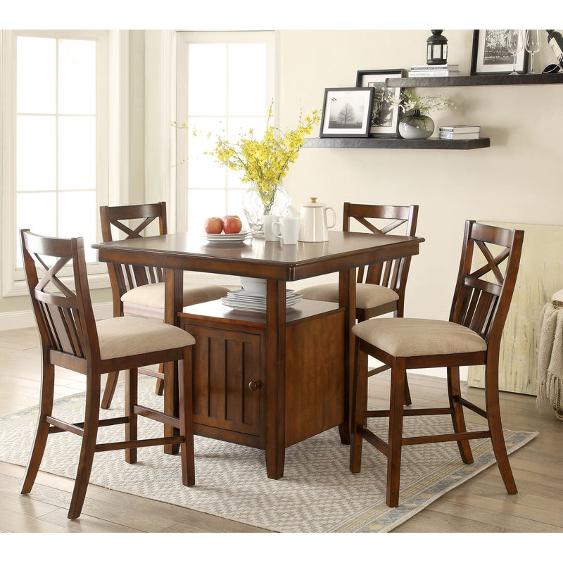 Widely Used Bryson 5 Piece Dining Sets With Loon Peak Bryson 5 Piece Dining Set (View 4 of 20)