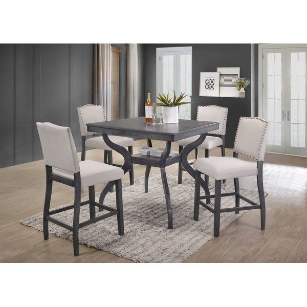 Widely Used Campton 5 Piece Counter Height Dining Set (Gallery 12 of 20)