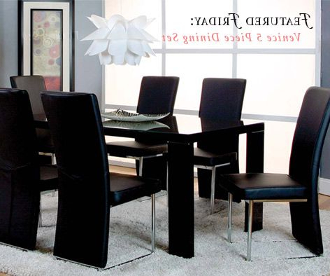 Widely Used Cargo 5 Piece Dining Sets Pertaining To Create A Whole New Look With The Venice 5 Piece Dining Set (Gallery 12 of 20)