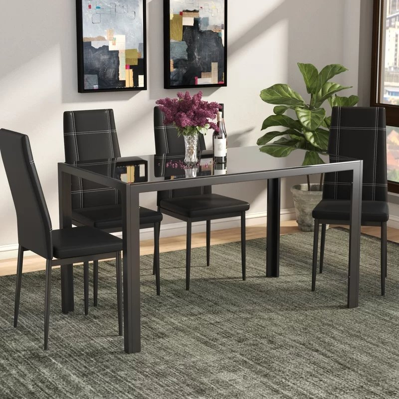 Widely Used Ebern Designs Maynard 5 Piece Dining Set & Reviews (View 19 of 20)