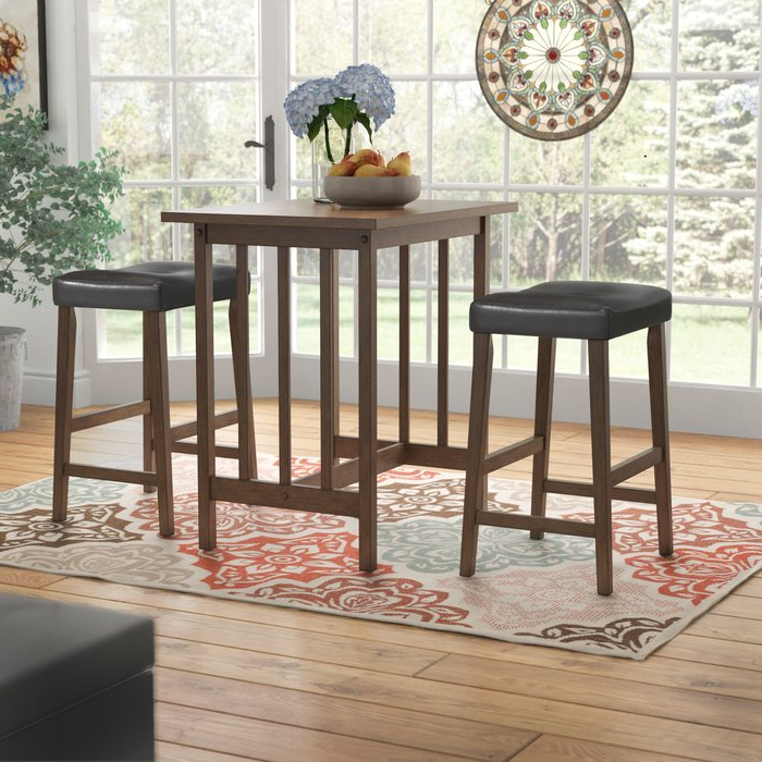 Widely Used Hood Canal 3 Piece Dining Sets Throughout Red Barrel Studio Hood Canal 3 Piece Dining Set & Reviews (View 20 of 20)