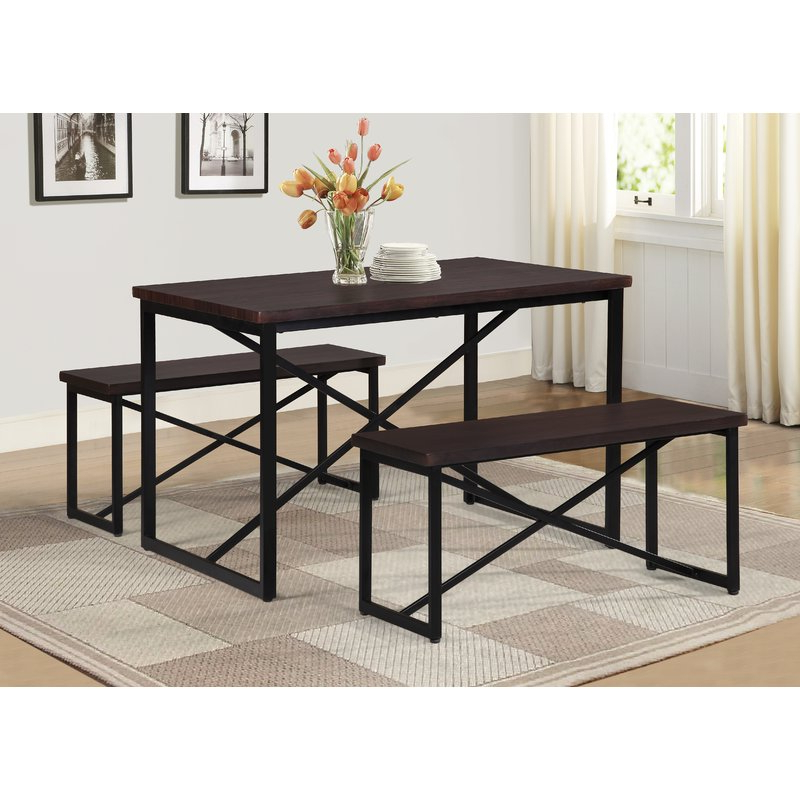 Widely Used Isolde 3 Piece Dining Sets Regarding Williston Forge Bearden 3 Piece Dining Set & Reviews (View 20 of 20)