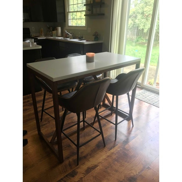 Widely Used Shop Kate And Laurel Kaya Counter Height Pub Table – 48X24X36 – Free Regarding Kaya 3 Piece Dining Sets (View 20 of 20)