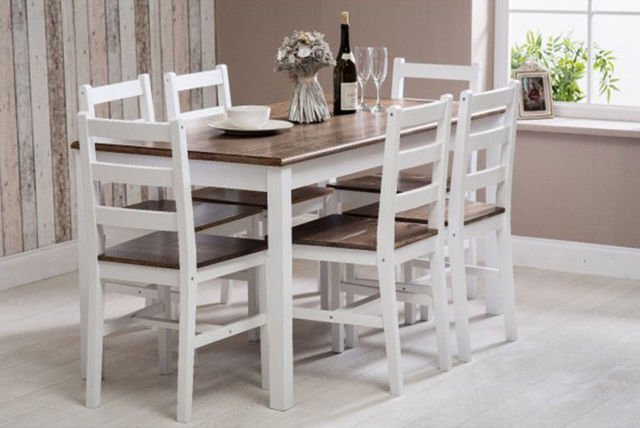 Widely Used Solid Wooden Dining Set (View 14 of 20)