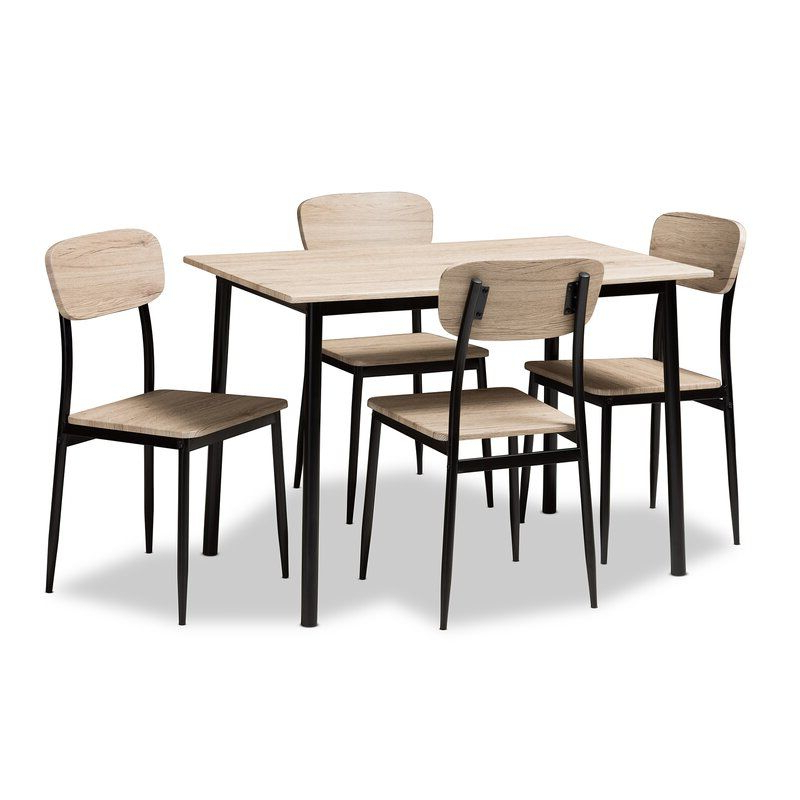 Wiggs 5 Piece Dining Set In 2019 (Gallery 2 of 20)
