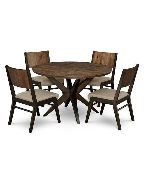 Wiggs 5 Piece Dining Sets Inside Most Popular Ashton Round Pedestal Dining Furniture, 5 Pc (View 19 of 20)