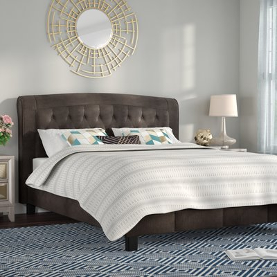 Willa Arlo Interiors Honoria Upholstered Platform Bed Size: Queen With Regard To Well Known Honoria 3 Piece Dining Sets (Gallery 20 of 20)
