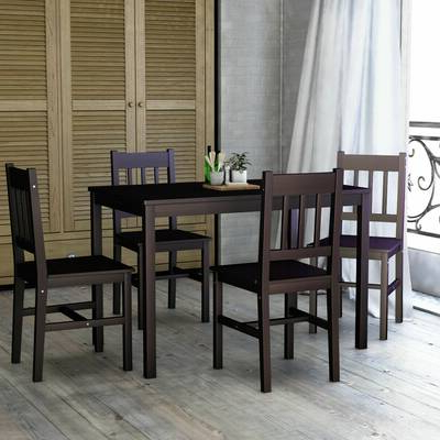 Williston Forge Maloney 3 Piece Breakfast Nook Dining Set & Reviews With Popular Sundberg 5 Piece Solid Wood Dining Sets (View 18 of 20)