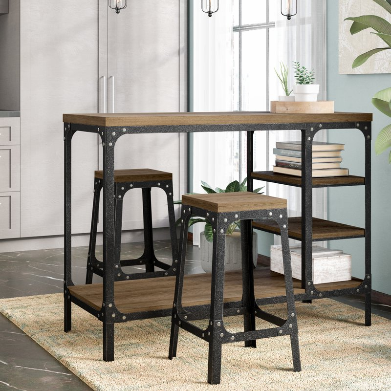 Williston Forge Terence 3 Piece Breakfast Nook Dining Set & Reviews In Current 3 Piece Breakfast Nook Dinning Set (View 20 of 20)