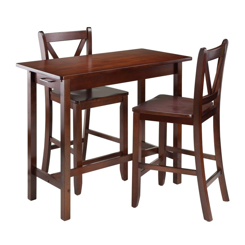 Winsome 3 Piece Counter Height Dining Sets Within Well Known Winsome Kitchen Island 3 Piece Counter Height Dining Set & Reviews (View 16 of 20)