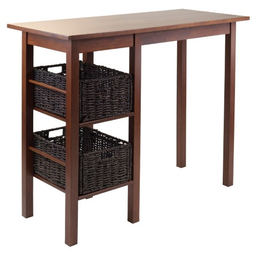 Winsome Wood Egan 3 Piece Counter Height Dining Table Set, Brown For Newest Winsome 3 Piece Counter Height Dining Sets (View 15 of 20)