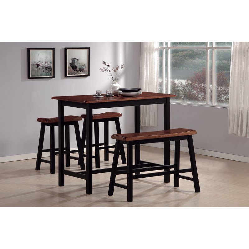 Winsted 4 Piece Counter Height Dining Sets For Newest Red Barrel Studio Winsted 4 Piece Counter Height Dining Set (View 3 of 20)