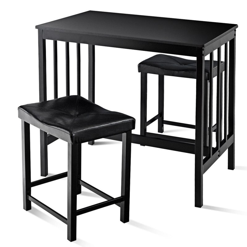 Winston Porter Miskell 3 Piece Dining Set (Gallery 1 of 20)