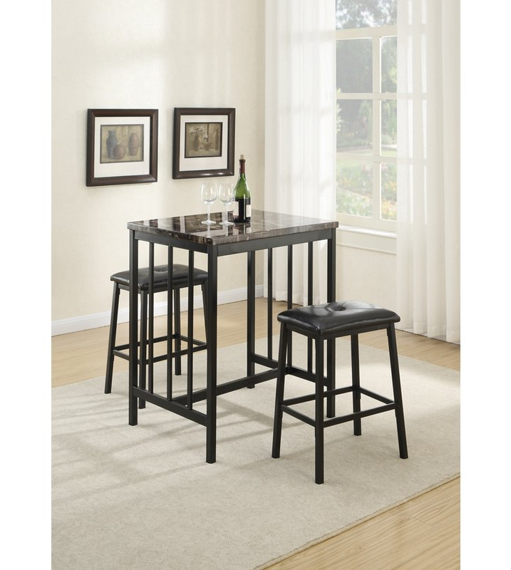 Winston Porter Presson 3 Piece Counter Height Dining Set (Gallery 2 of 20)