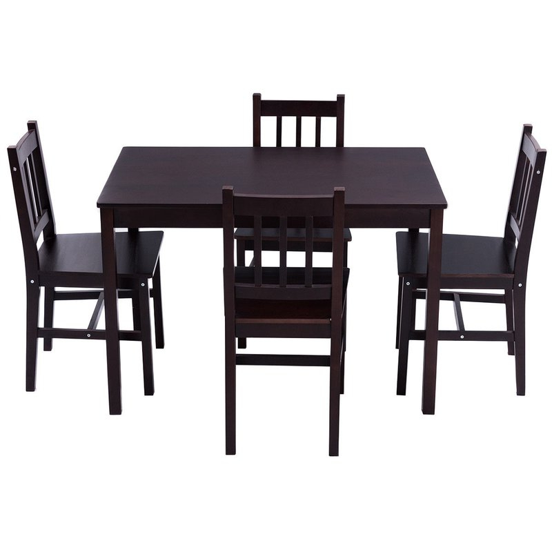 Winston Porter Sundberg 5 Piece Solid Wood Dining Set & Reviews Inside Widely Used Sundberg 5 Piece Solid Wood Dining Sets (Gallery 2 of 20)