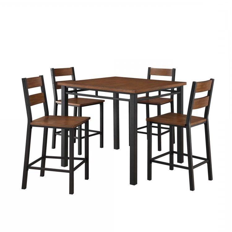 Winston Porter Sundberg 5 Piece Solid Wood Dining Set (View 19 of 20)