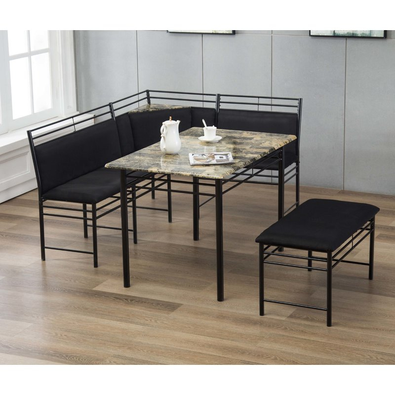 Winston Porter Tyrell 3 Piece Breakfast Nook Dining Set & Reviews Within Most Popular 3 Piece Breakfast Dining Sets (View 5 of 20)