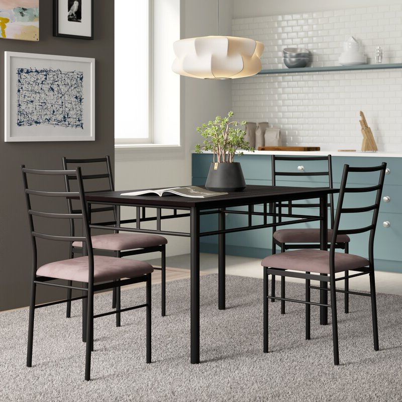 Zipcode Design Jarrod 5 Piece Dining Set & Reviews (View 20 of 20)