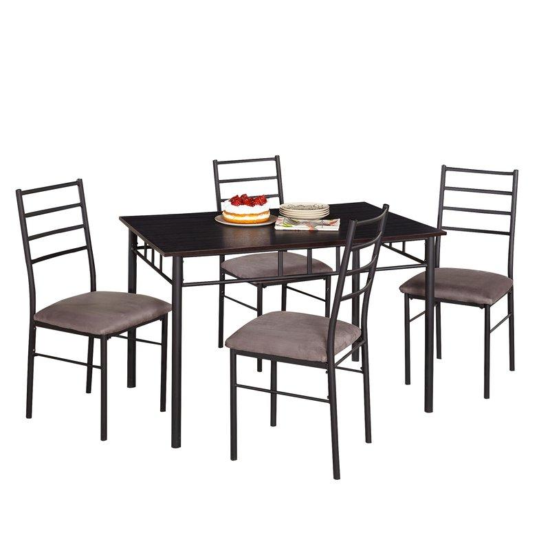Zipcode Design Jarrod 5 Piece Dining Set & Reviews (View 20 of 20)