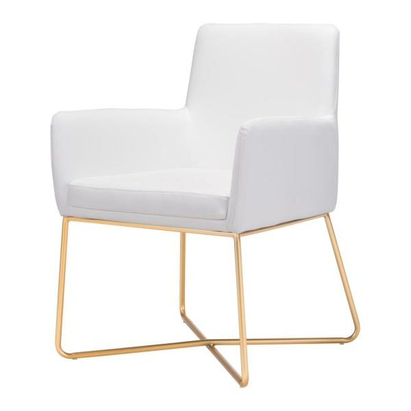 Zuo Honoria White Arm Chair 101147 – The Home Depot Regarding Favorite Honoria 3 Piece Dining Sets (View 11 of 20)
