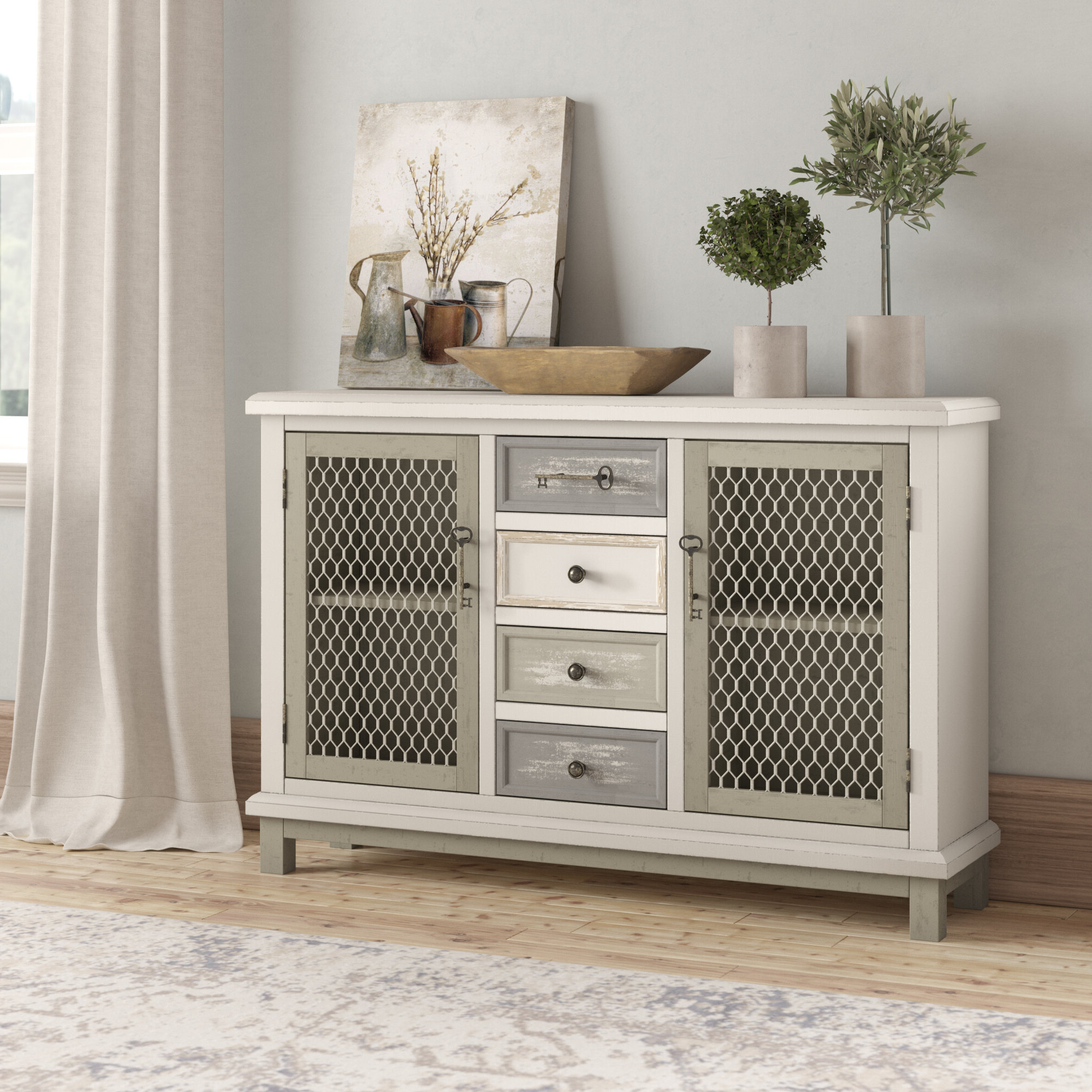 2 Door Buffet | Wayfair Throughout Candace Door Credenzas (View 1 of 20)