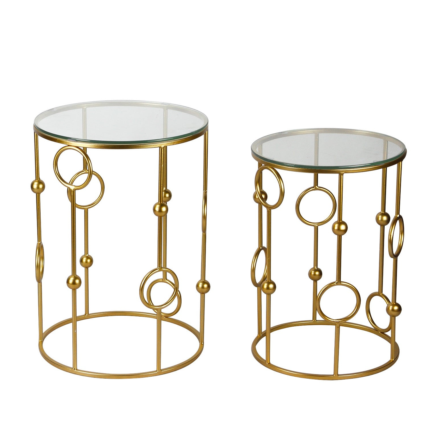 2019 Adeco Accent Postmodernism Drum Shape Black Metal Coffee Tables Regarding Adeco Home Garden Patio Accent Metal Nesting Postmodernism Golden Side End  Tea Coffee Tables (Set Of 2) (Gallery 4 of 20)
