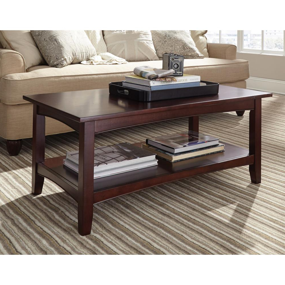 2019 Alaterre Country Cottage Wooden Long Coffee Tables Throughout Shaker Cottage Espresso Storage Coffee Table (View 17 of 20)