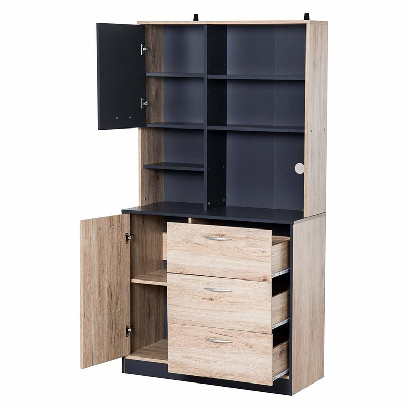 """2019 Arlen 67"""" Kitchen Pantry Intended For Arlen Kitchen Pantry (Gallery 2 of 20)"""