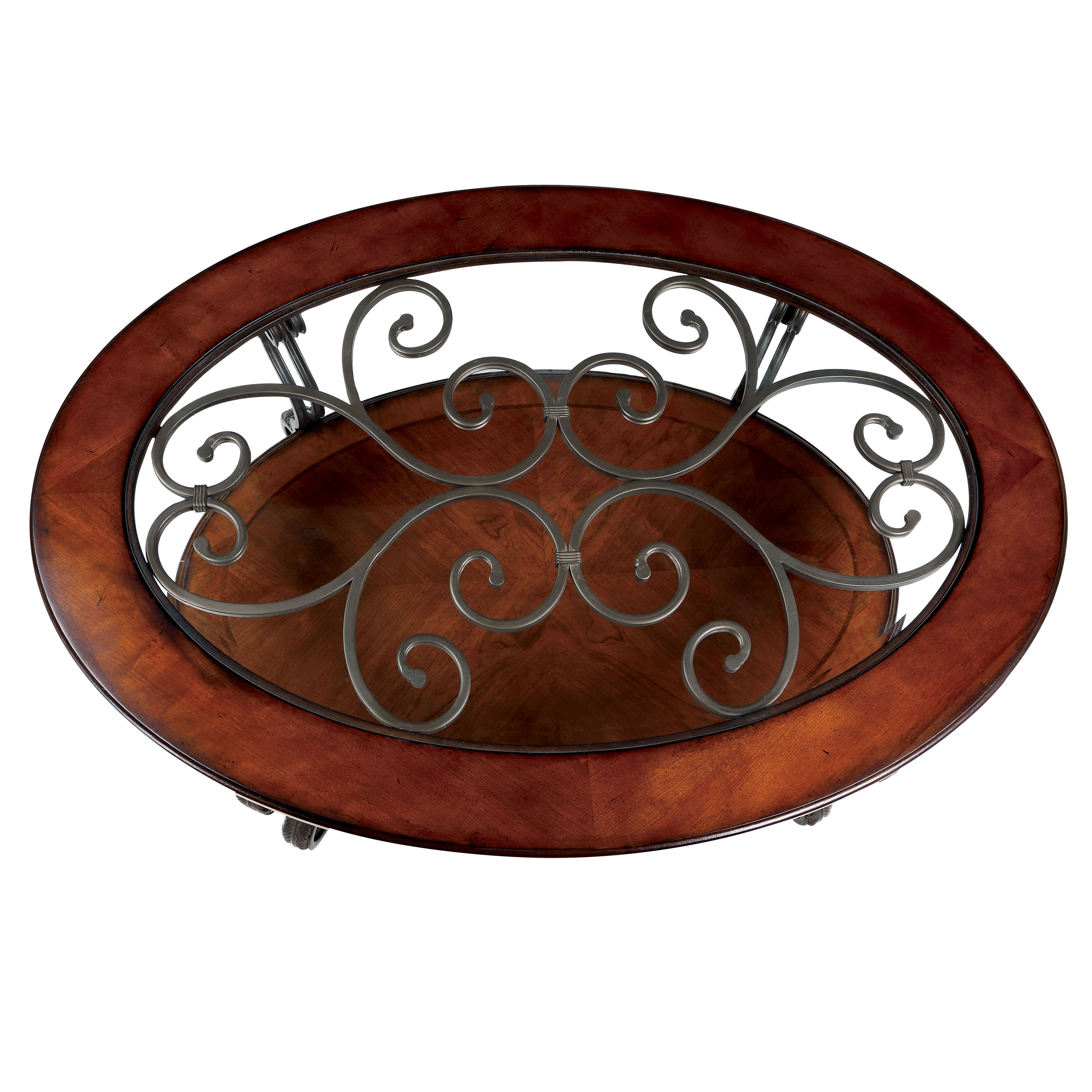 2019 Cohler Traditional Brown Cherry Oval Coffee Tables Inside Furniture Of America Cohler Traditional Brown Cherry Oval Coffee Table Foa (View 5 of 20)